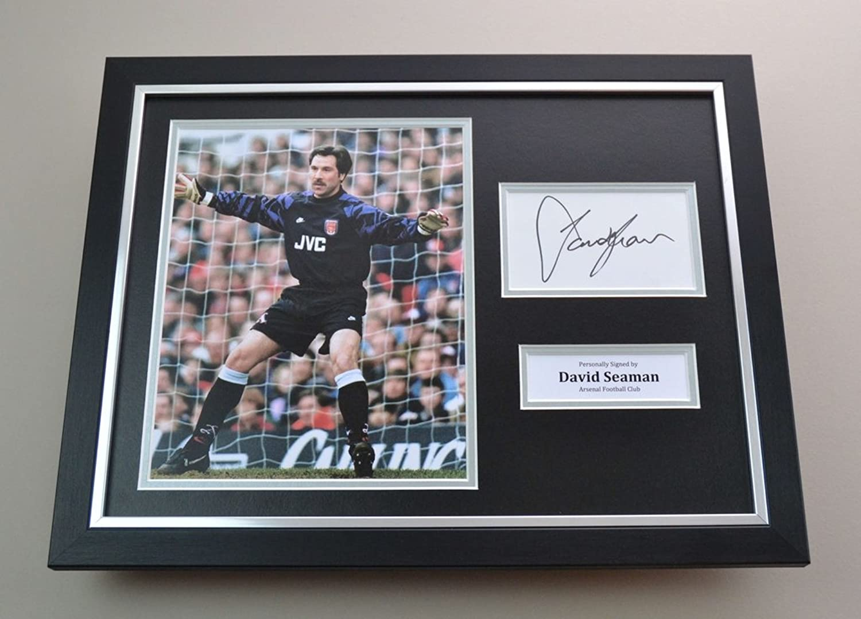David Seaman Signed Photo Framed 16x12 Arsenal Memorabilia Autograph Display COA