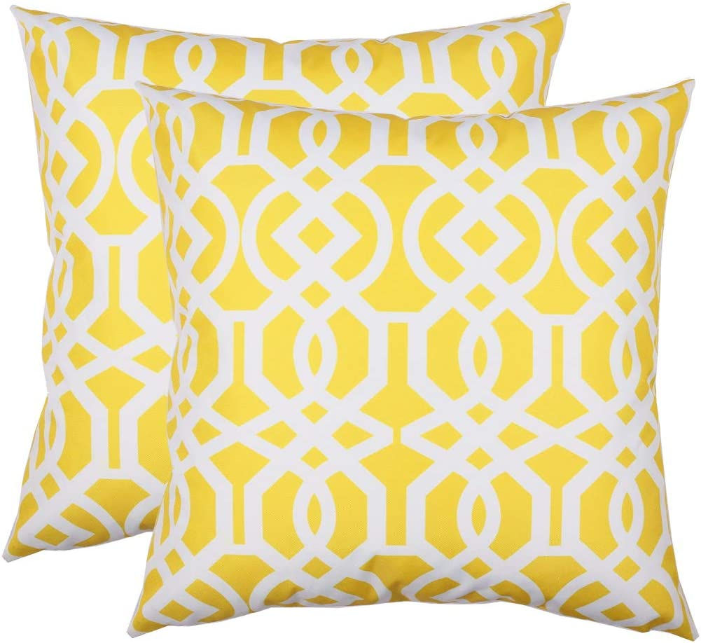 Homey COZY 8H1138-20 Accent 2 Pillow Pack Quantity limited Max 61% OFF Yellow