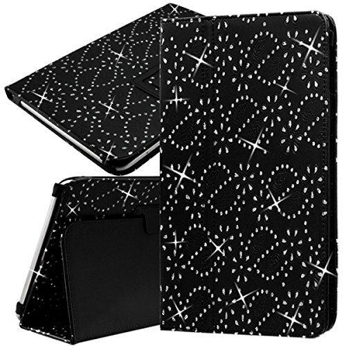 Seluxion - Funda tipo libro universal para Asus ZenPad 3S 10 Z500M-1H007A, diseño de diamante, color negro