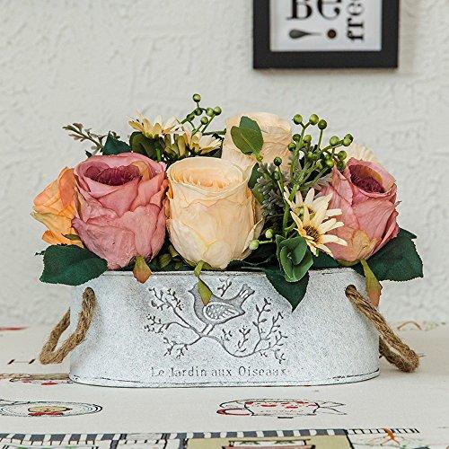 Jnseaol Kunstblumen Künstliche Blumen Diy Gefälschte Blumen Wohnzimmer Windowsill Hochzeit Party Küche Hause Wok Urlaub Geschenke Topfpflanzen Rosa-12