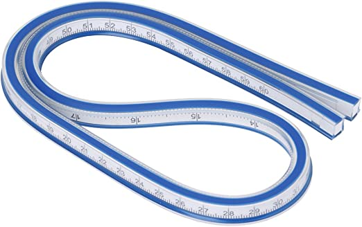 60 cm Flexible Kurve Lineal Kunststoff Malerei Zeichnung Grafiken Mess Kleidungsst/ück Design Lineal Messwerkzeug MEHRWEG VERPAKUNG Fdit 30 cm 40 cm 1#