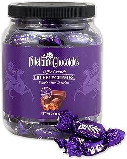 Toffee Crunch TruffleCremes in Double Milk Chocolate - 28oz Bulk Jar - by Dilettante