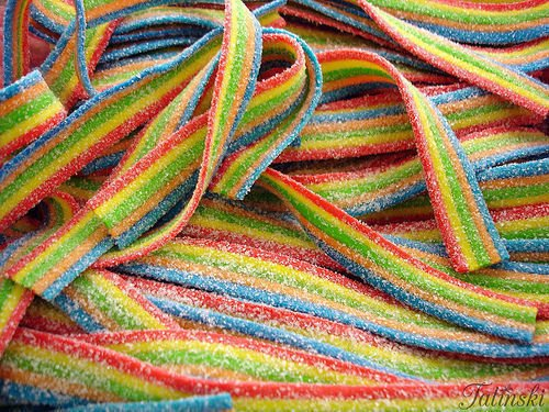 Smarty Stop All Flavor Sour Candy Belts (Rainbow, 1 LB)