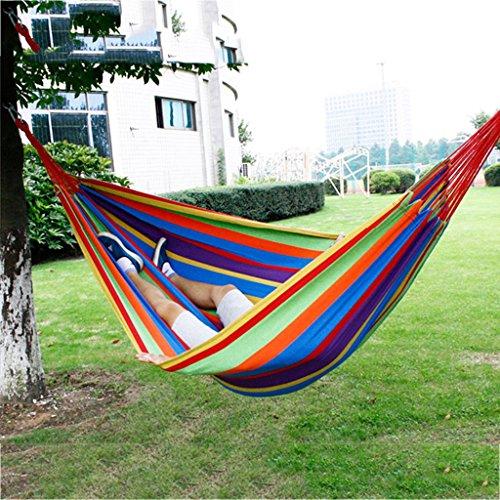 Hamacs Familial extérieur Toile épaisse Sauvage Suspendus balançoire de lit d'arbre de prévention Jardin et Patio (Color : Royal Blue, Size : 200 * 160cm)