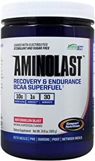 Gaspari Nutrition Aminolast Recovery Endurance BCAA Superfuel Watermelon Blast 14 8 oz 420 g