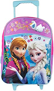 Fast Forward Little Girls' Frozen Roller Backpack, Pink/Purple, 16x12