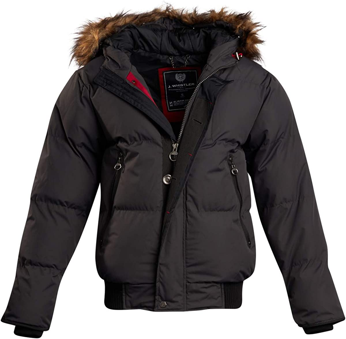 J. Whistler Men's Quilted Insulated Puffer Jacket with Hood