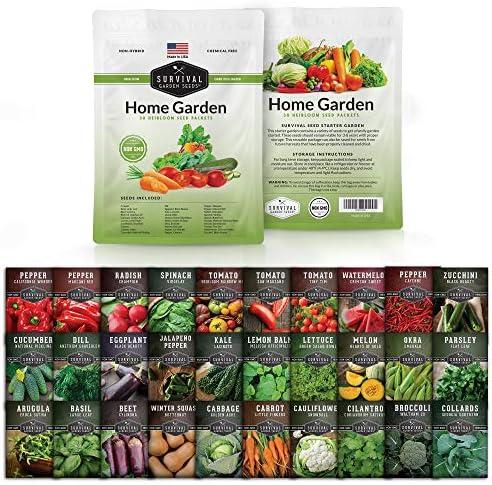 Survival Garden Seeds Home Garden Vegetable Seed Vault Non GMO Heirloom Survival Garden Seeds product image