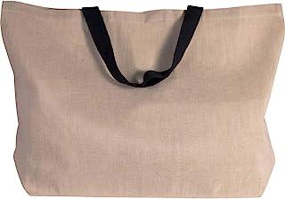 großer Shopper aus Jute-Baumwoll-Mischgewebe, XXL-Tasche u. Shopper für Strand, Freizeit, Shopping oder Sport, versch. Far...