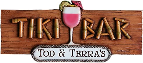 product image for TIKI BAR PERSONALIZED WALL PLAQUE