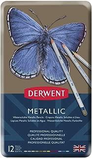 Derwent Watercolor Pencils, Metallic, Water Color, Drawing, Art, 12-Pack (0700456)