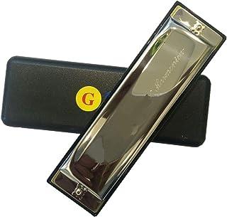 TMP1105 Classic Harmonica G Key 10 Hole 20 Tone Mundharmonika Organ Instrumentos Musicais Blues Harp Gaita (Color : G Key)
