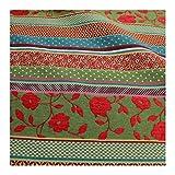 Stoff Baumwolle Polyester Jacquard Streifen bunt Punkte