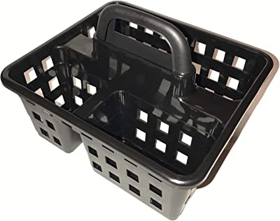 Greenbrier Small Utility Shower Caddy Tote - Black (Black)