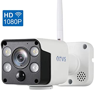 CAYVIS Wireless Security Camera,1080P Outdoor Surveillance Cameras IR Night Vision Motion Detection PIR Thermal Siren Alarm LED Floodlight Deterrent Alarm WiFi Remote View Waterproof iOS/Android,PC