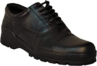 Tsf-Black Leather Lcae Up Police Shoes