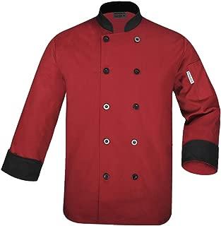 Unisex Chef's-Uniform Long Sleeve Double-Breasted Men's Chef Coat