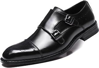 [オズコ] おずこ モンクストラップ ビジネスシューズ 本革 革靴 紳士靴結婚式ドレスシューズ 通気性のスリップ