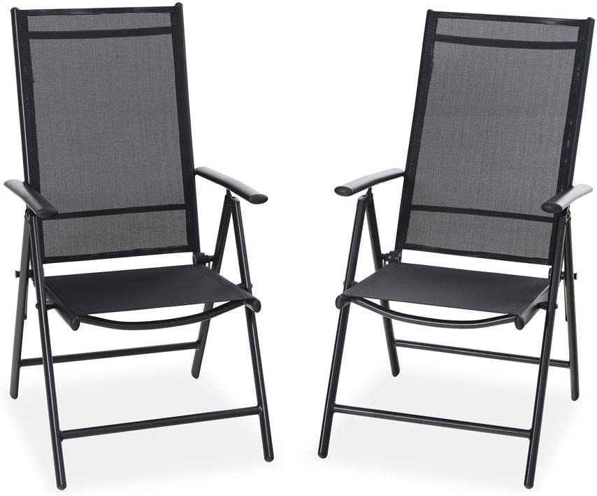 PHI VILLA Patio New popularity Folding Chairs Armrest with Purchase Reclinin Adjustable