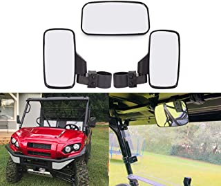 """UTV Rearview Side Mirror And Center Mirror Set 1.75"""" 2"""" Bar For Polaris RZR Ranger (Rear And Side View Mirror)"""