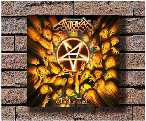 Refosian Anthrax Music Rapper Album Cover Poster Art Canvas Print Decorazione Canvas Wall Art for Living Room -20X20 inch No Frame