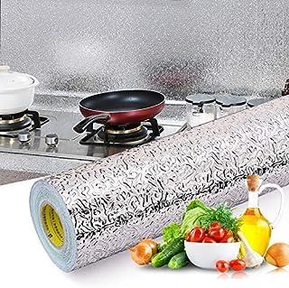 Inllex Kitchen Backsplash Self Adhesive Wallpaper Foil Stickers Oil Proof Waterproof Stove -23.6 x 80 inch
