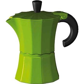 Gnali and Zani Morosina - Cafetera italiana, 6 tazas, color verde: Amazon.es: Hogar