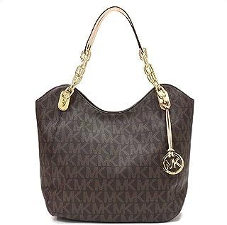 Michael Kors Lilly Tote Shoulder Bag (Large, Brown)