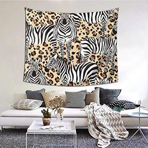 Tapiz de pared con diseño de cebra en blanco y negro, tapices bohemios para colgar en la pared, manta de pared, arte de pared, decoración de pared, tapiz de playa, tapiz de pared, 60 × 51 pulgadas
