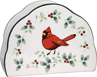 Pfaltzgraff Winterberry Cardinal Napkin Holder