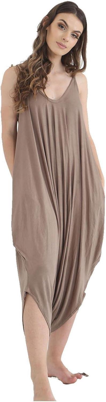New Ladies Cami Lagenlook Romper Baggy Harem Jumpsuit Play suit Dress Plus Size