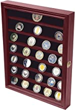 product image for flag connections Military Challenge Coin Display Case Cabinet Rack Holder with Door.