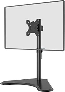 "WALI Free Standing Single LCD Monitor Fully Adjustable Desk Mount Fits One Screen up to 32"", 17.6 lbs. Weight Capacity (MF..."