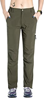 Nonwe Women's Quick Dry Climbing Mountain Pants Outdoor Sports Green S/29 Inseam
