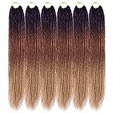 Ailsa Senegalese Twist Crochet Hair 18 inches Crochet Senegalese Twist 6 Packs Crochet Braids Hair for black women (1B/30/27)