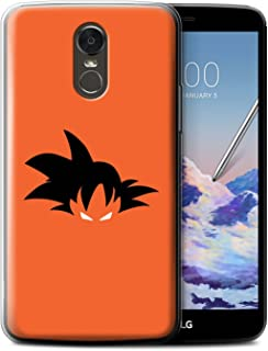 Phone Case for LG Stylus 3/Stylo 3/K10 Pro Anime Fighters Goku Inspired Design Transparent Clear Ultra Soft Flexi Silicone Gel/TPU Bumper Cover