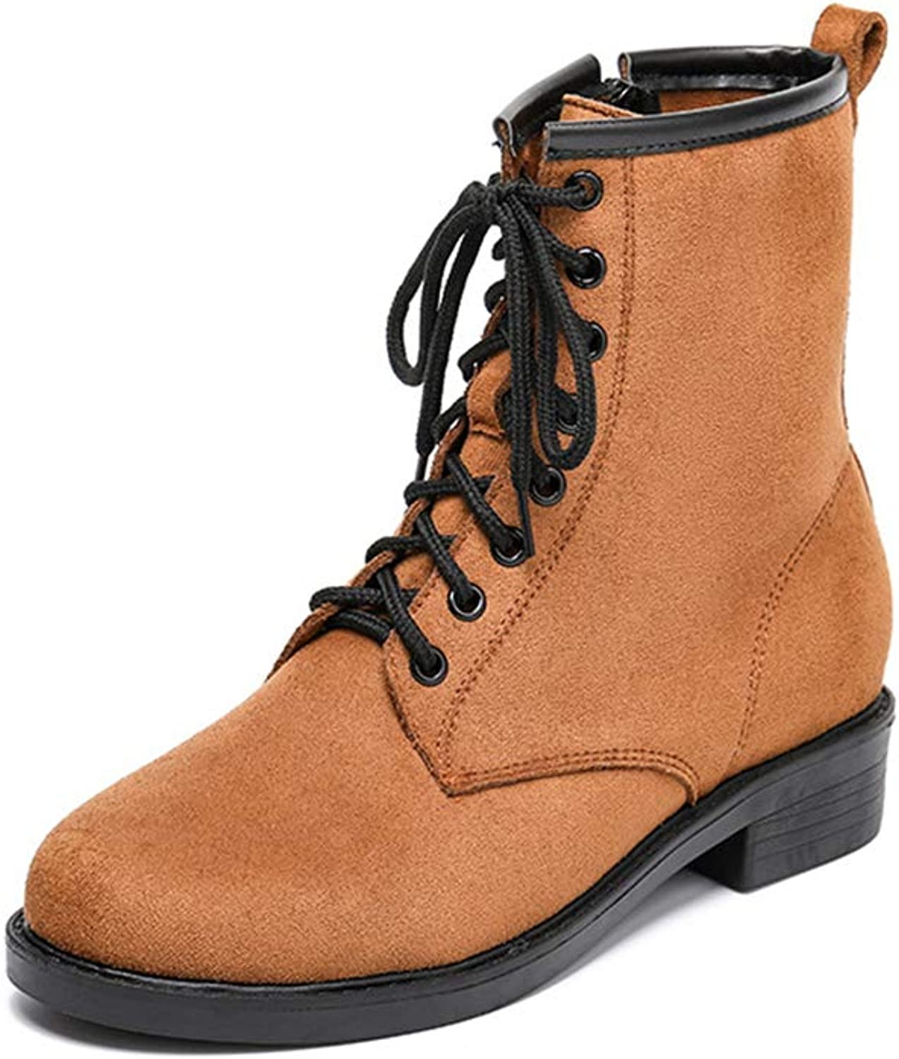 Womens Casual Combat Booties, Motorcycle Ankle Boots Fashion