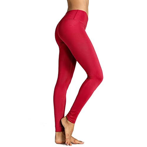 e6ede114b9 CRZ YOGA Women's Running Tights Workout Leggings Slimming Yoga Pants with  Pockets