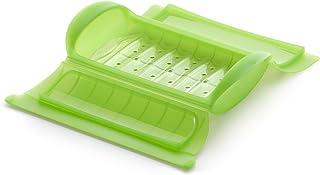 Lékué - Estuche de vapor con bandeja, 1-2 personas, color verde