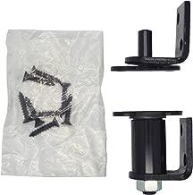Bommer 7512 Gloss Black Gravity Pivot Hinge -Hold Open- for Louver/Swing/Swinging/Cafe Doors (Bright Black)