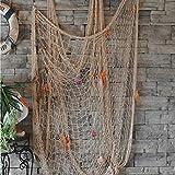 Biutee Dekoration Fischnetz mit Muscheln Maritime Deko Beach deko 150cm*200cm(WT) - 3