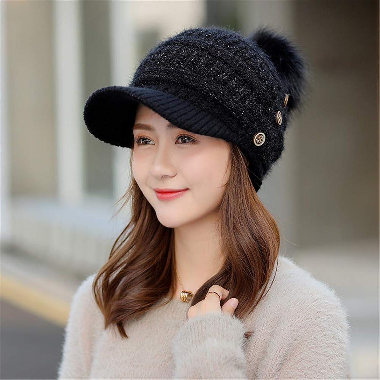 デモンストレーション自体オーブンレディースの秋と冬の帽子、ニットキャップ、顔を変える野球帽