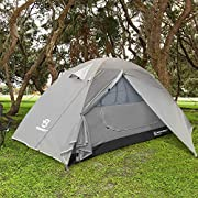 Bessport Backpacking Tent 1-2Person Ultralight Camping Tent Waterproof Two Doors Tent Instant Setup - Less Than 1 Min for Camping, Hiking Mountaineering Expeditions (Grey)