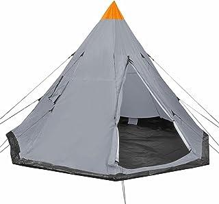 Tidyard Pyramidtält för 4-personstält med pinnar och linor och 2 fönster campingtält fritält, tipitält för vandring, campi...