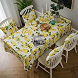 YUANYOU Lemon Print Decorative Linen and Cotton Waterproof Table Cloth Tablecloth Rectangular Table CoverHome Hotel Textile