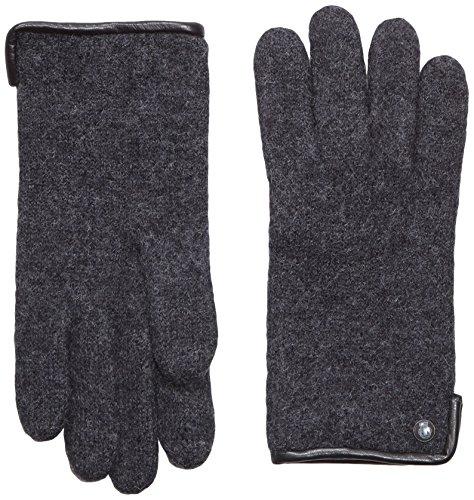 Roeckl Damen Klassischer Walkhandschuh Handschuhe, Schwarz (Anthracite 090), 7.5