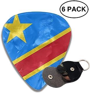 Yongchuang Feng Congo Flag 351 Shape Classic Medium Celluloid Guitar Picks Bass Musical Instruments Plectrums 6-Pack