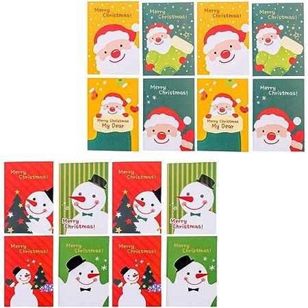 Whaline per bambini per feste di Natale e bomboniere Mini taccuino natalizio a tema natalizio 12 pezzi 8,4 x 12,7 cm per piccoli quaderni