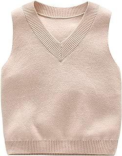 TAIYCYXGAN Little Boys Girls Rainbow Knit Sweater Vest Kids Crew Neck Pullover Waistcoat