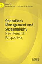 Operations Management and Sustainability: New Research Perspectives